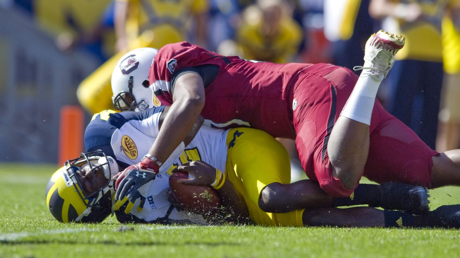 Michigan Can't Finish, Loses to South Carolina 33-28 ... | 1600 x 900 jpeg 180kB