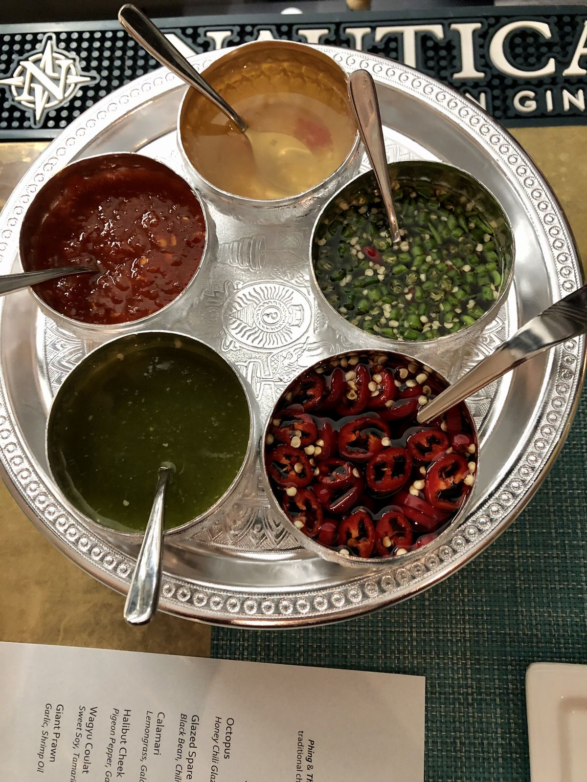 Sauces at Phing Tham