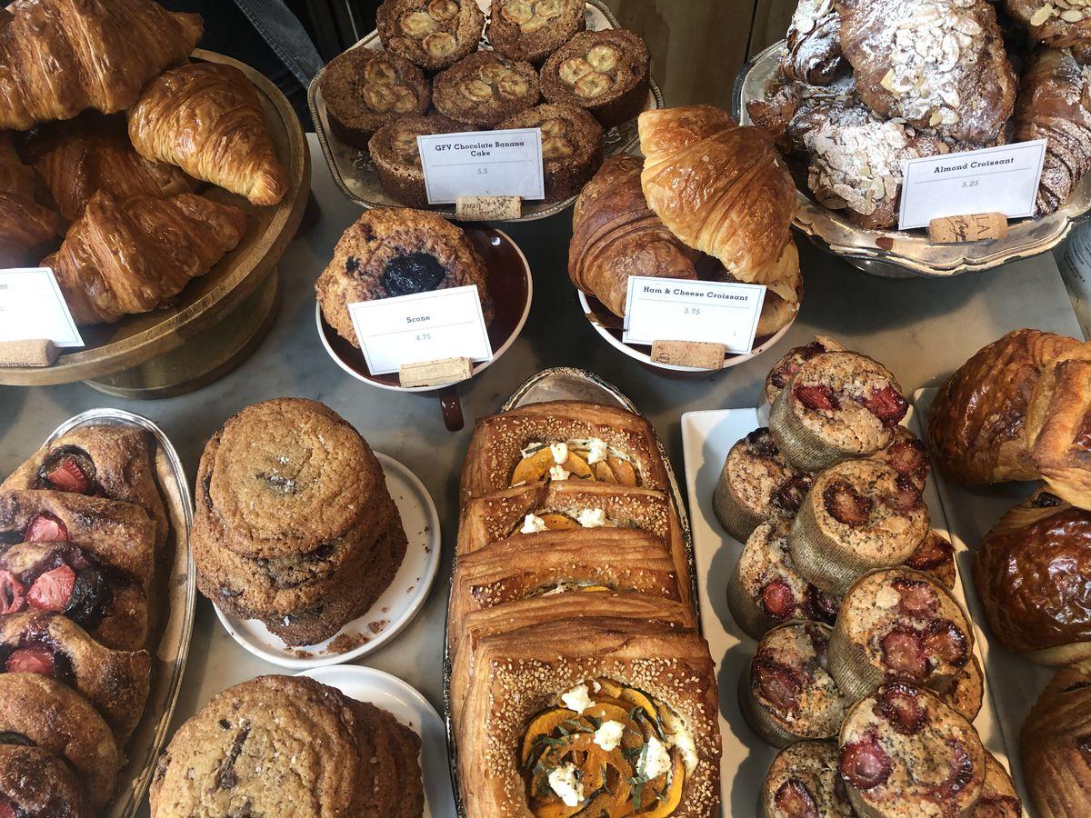 The pastry case at Milo & Olive in Santa Monica, California.