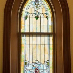 Art glass windows can be found throughout the Provo City Center Temple.