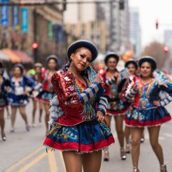 The Renancer Boliviano Folkloric Dance Troupe performs in the 85th Annual Thanksgiving Day Parade on November 22, 2018   Max Herman/For the Sun-Times
