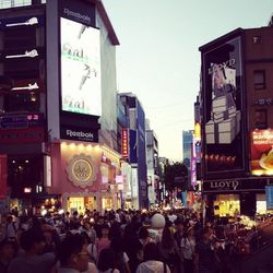 In the evening I head out to Myeongdong—the beauty district of Seoul. Even though it's Monday night the place is packed!