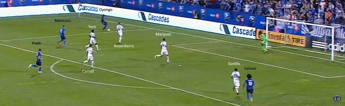 Nacho Piatti all alone on Montreal's fourth goal