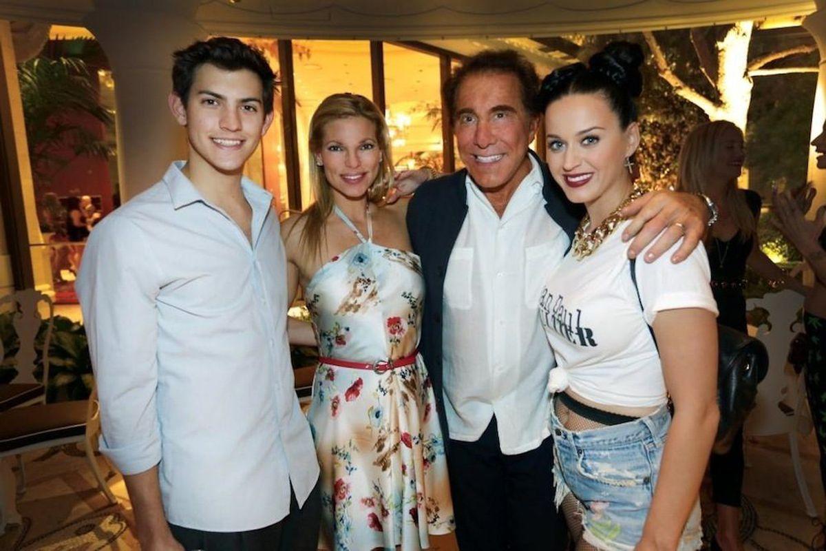 Nick Hissom, Andrea Wynn, Steve Wynn and Katy Perry at Botero. Photo: Danny Mahoney