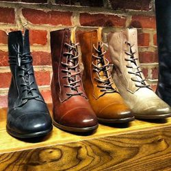 Petry says that short boots—and styles with laces—are hot for fall.