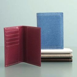 And what would eco-friendly travel be without a vegan passport holder? This little number from Shiraleah ($20, available at ShopBossa.com) is made from lizard-embossed vegan leather.