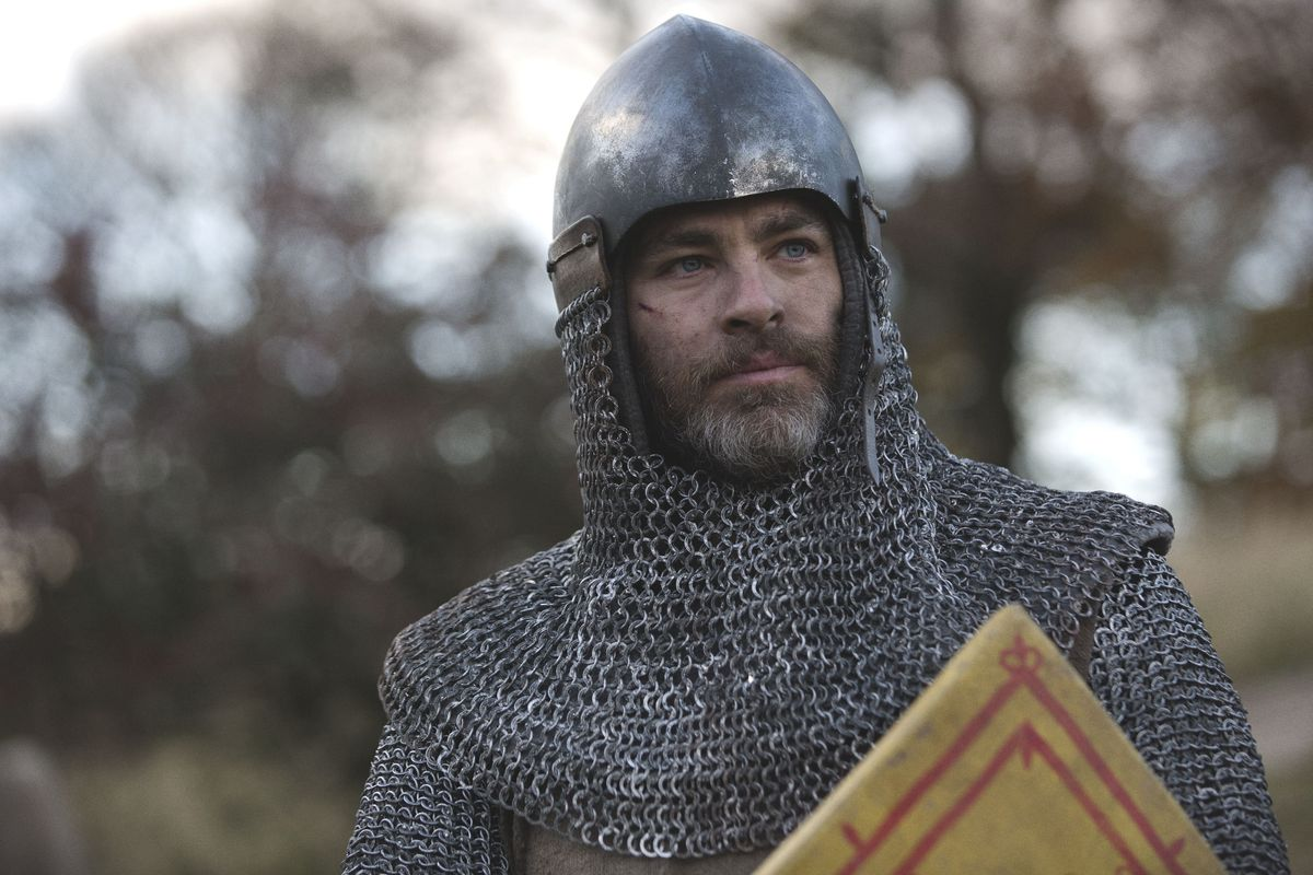 Chris Pine stars in Outlaw King, now streaming on Netflix.
