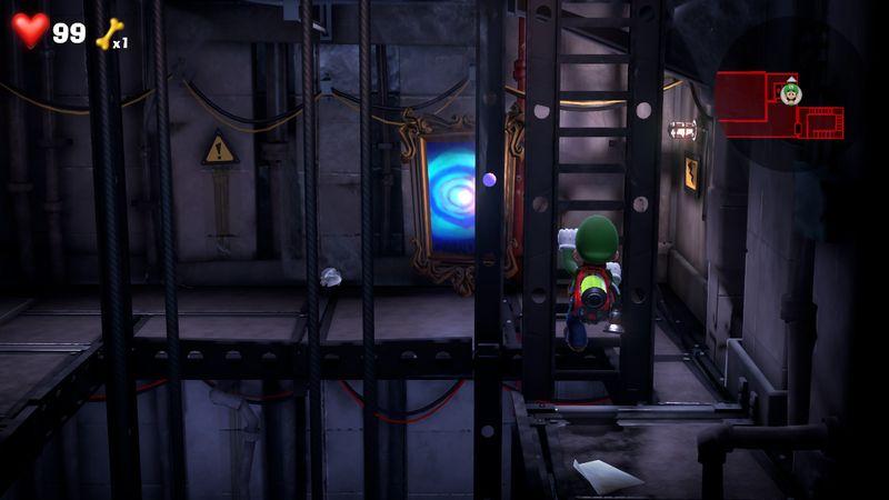 Luigi s Mansion 3 B1 ELEVATOR SHAFT  BLUE GEM  2 - Luigi's Mansion 3 - Guida: come trovare tutte le gemme dei piani B2 e B1