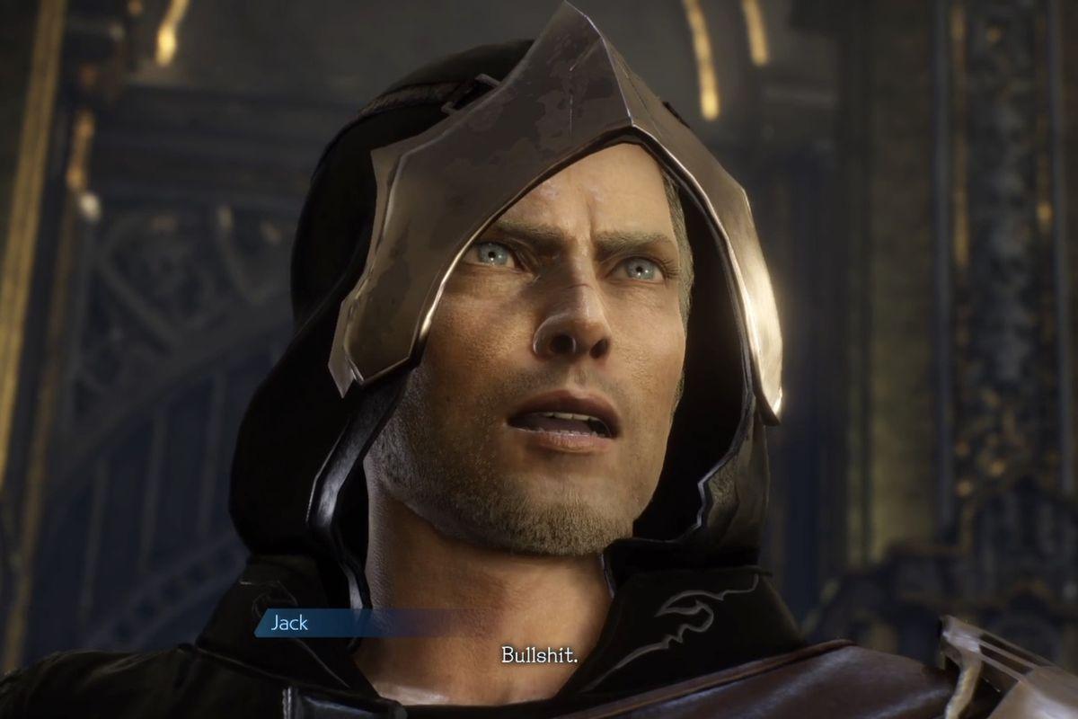 """Jack from Stranger in Paradise Final Fantasy Origin says """"Bullshit."""""""