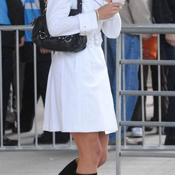 Arriving at The Concert For Diana at Wembley Stadium in London on July 1st, 2007.