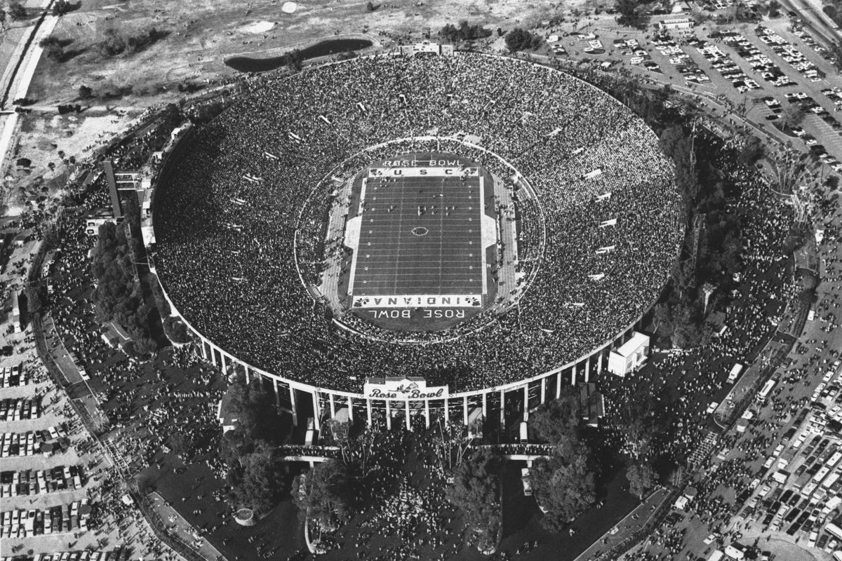 Overhead View of Rose Bowl