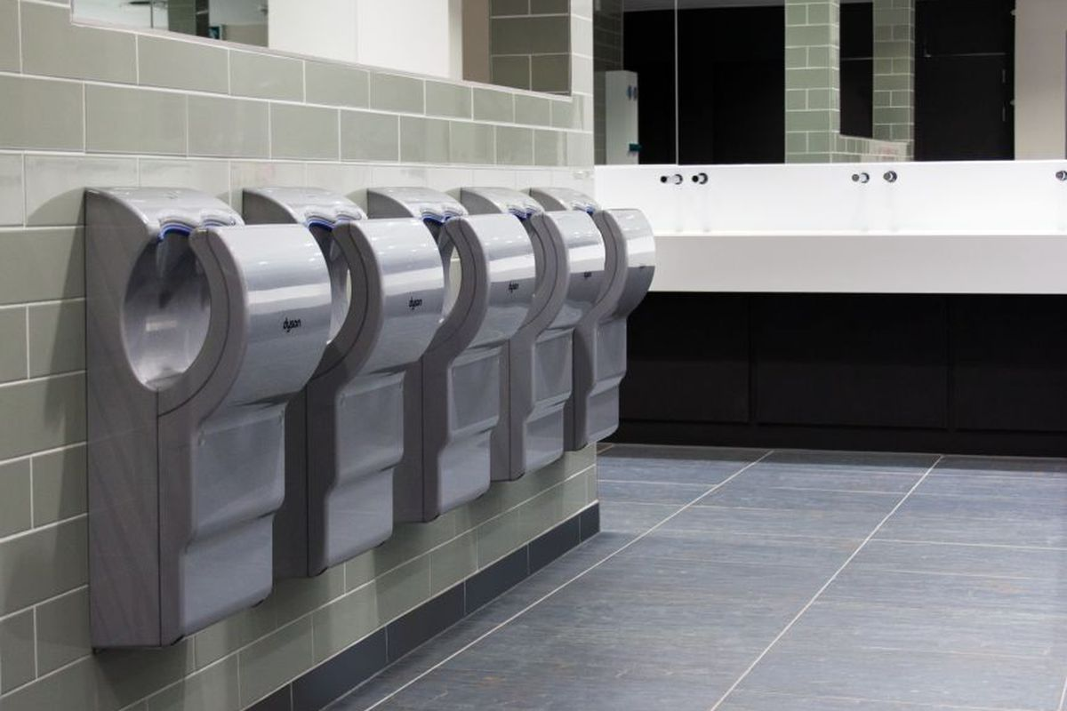 Dyson Vs Big Paper Towel The Battle Over Handdrying Hygiene The - Bathroom hand dryer germs