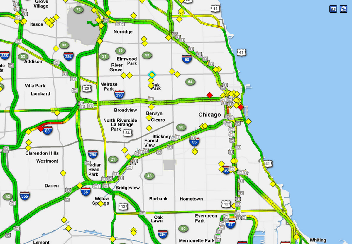 Chicago traffic and commuting conditions at 6 a m  - Chicago