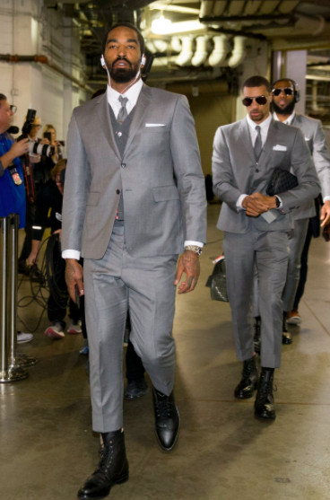 590f67d3747 ... the aviators that look nice but I m sure he loves showing up back to  his hometown of Indianapolis in a suit LeBron made him wear. Thom Browne or  not.