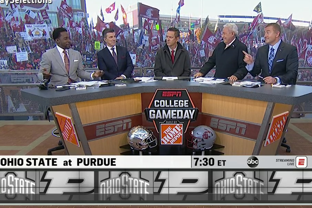 Drew Bledsoe Espn Gameday Crew Pick Ohio State Purdue Game More Land Grant Holy Land