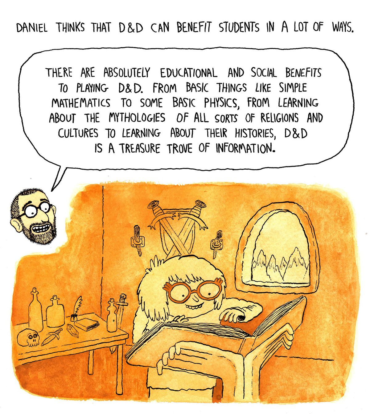 This Comic Explores Dungeons Dragons Classroom Potential The Verge High School Physics Parallel Circuits Youtube Illustration Courtesy Of Phil Mcandrew
