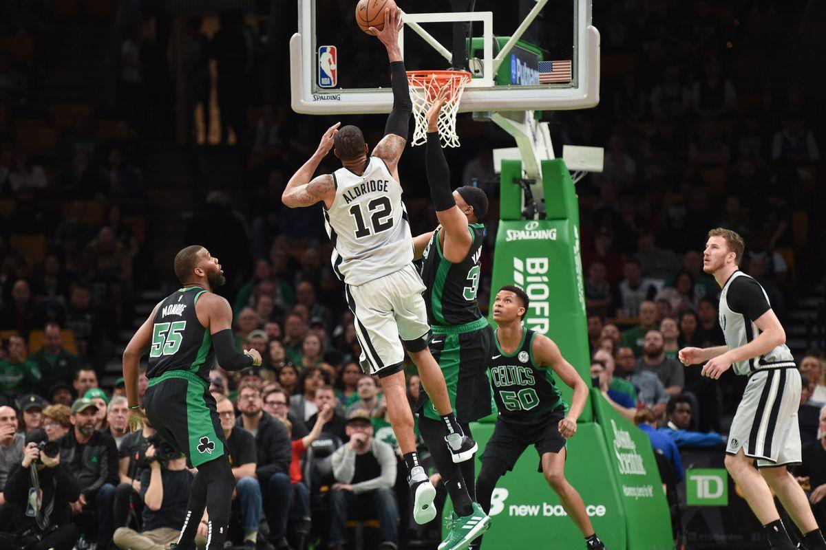 LaMarcus Aldridge's career night leads Spurs past Celtics