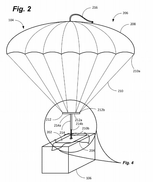 Amazon Patents A Parachute Shipping Label For Drone Deliveries