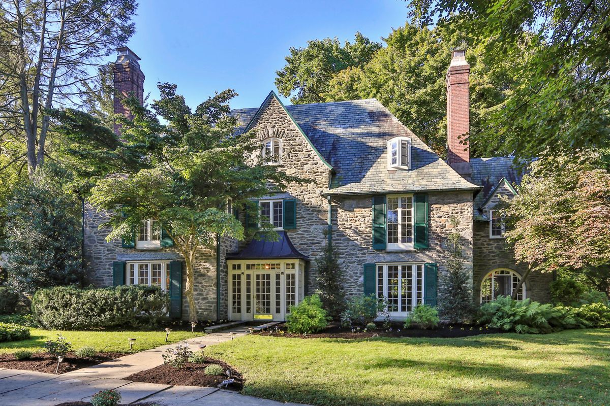 A stone Normandy-style home in Philly's Mt. Airy neighborhood.