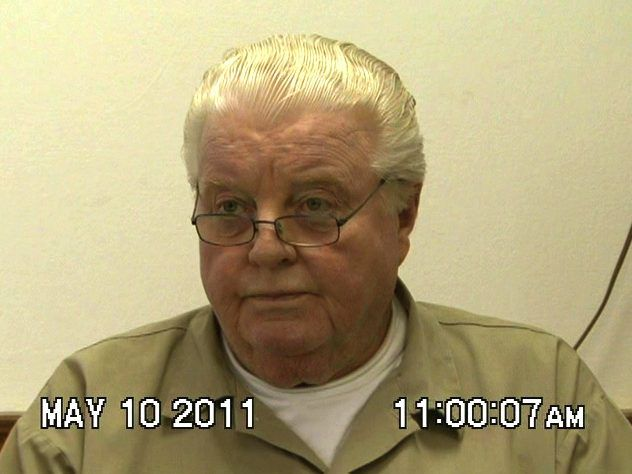 Former Chicago Police Commander Jon Burge was interviewed by NBC5 Chicago while he was at a federal prison in Butner, North Carolina. | NBC5 screenshot