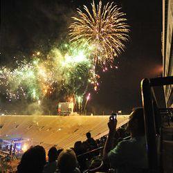 Fireworks at the Stadium of Fire at LaVell Edwards Stadium in Provo , Utah, Sunday, July 4, 2010. Matt Gillis, Deseret News