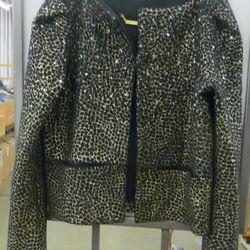 Diane von Furtsenberg metallic jacket, $229