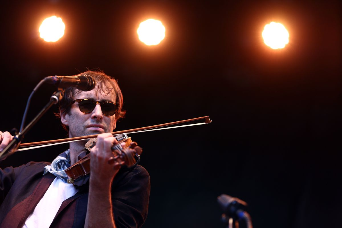 Musician Andrew Bird performs on the Sycamore stage during Arroyo Seco Weekend at the Brookside Golf Course at on June 25, 2017 in Pasadena, California.