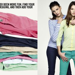 Jeggings, you're back! Benetton is stocking them at the Plano store and online for $59.50.