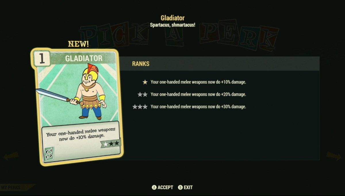 Fallout 76 Character Customization Will Add Card Based Perks To