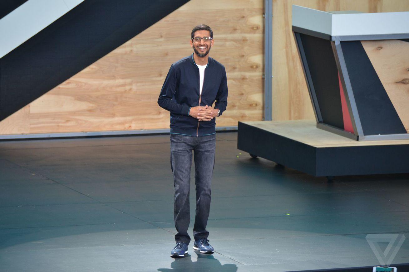 Sundar Pichai at Google IO