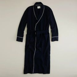 """<strong>J. Crew</strong>  Flannel Robe in Navy, <a href=""""http://www.jcrew.com/mens_feature/tobedeleted/catalogjcrewcomexclusives/boxersandsleepwear/PRDOVR~34973/ENE~1+2+3+22+4294967294+20+225~~~0~15~all~mode+matchallany~~~~~robe/34973.jsp?isSaleItem=false"""