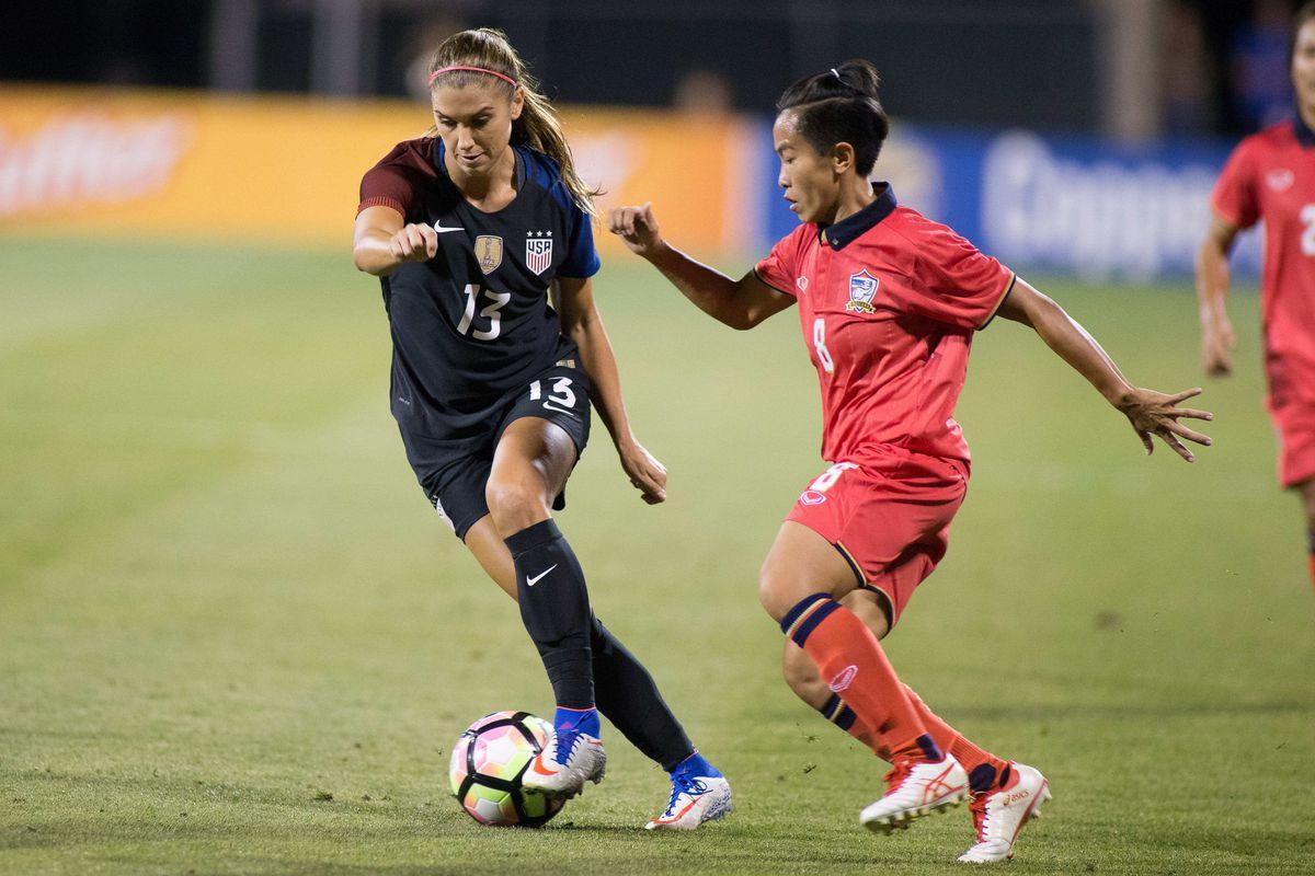 Soccer: International Friendly Women's Soccer-Thailand at USA