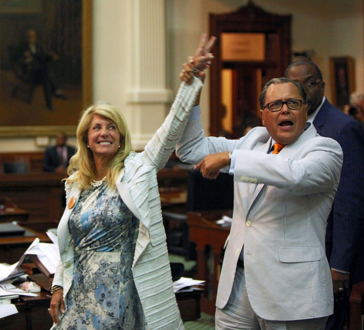 Wendy Davis, after her filibuster, in June 2013