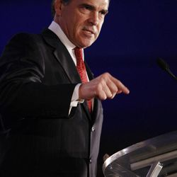 FILE - In this June 18, 2011 file photo, Texas Gov. Rick Perry speaks at the Republican Leadership Conference in New Orleans. If Perry decides to run for president, he'll attack from the Republican Party's right flank, as he would be among the GOP field's most conservative candidates. (AP Photo/Patrick Semansky, File)