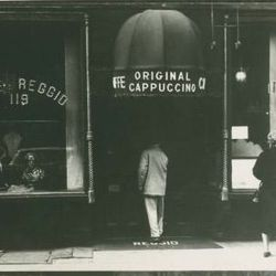 Caffe Reggio opened on 119 MacDougal St. in 1927, and still stands relatively unchanged today. It claims to have introduced the cappuccino to America, and is home to an espresso machine from 1902, which the owner bought with his savings when he opened the