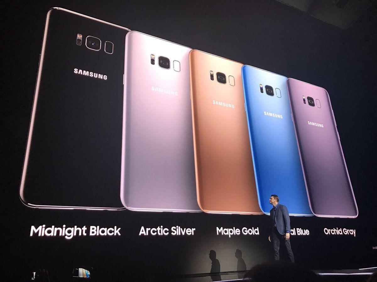 Galaxy S8 colors