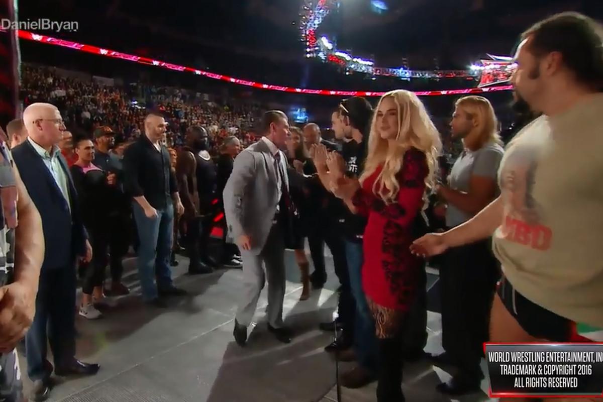 Titus O'Neil Grabs Vince McMahon