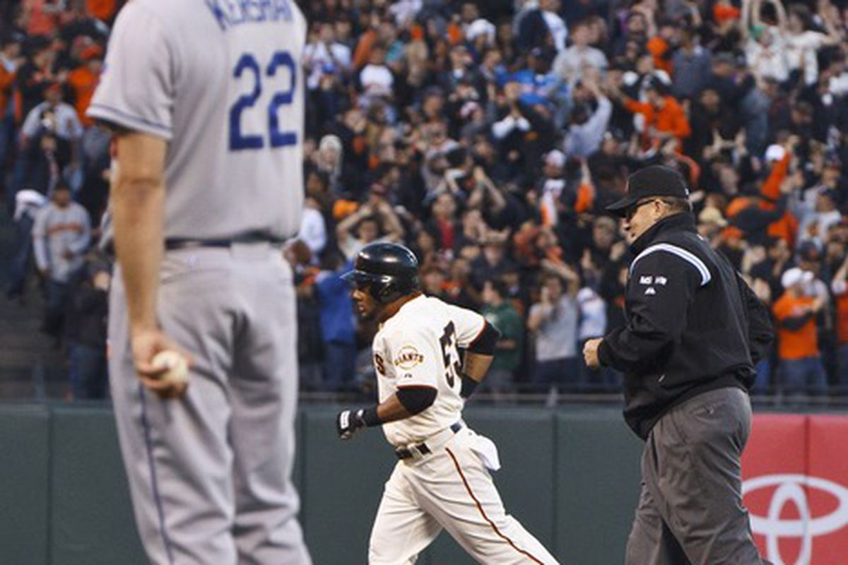 This Melky Cabrera home run off Clayton Kershaw was all that the Giants needed to beat the Dodgers on Tuesday.