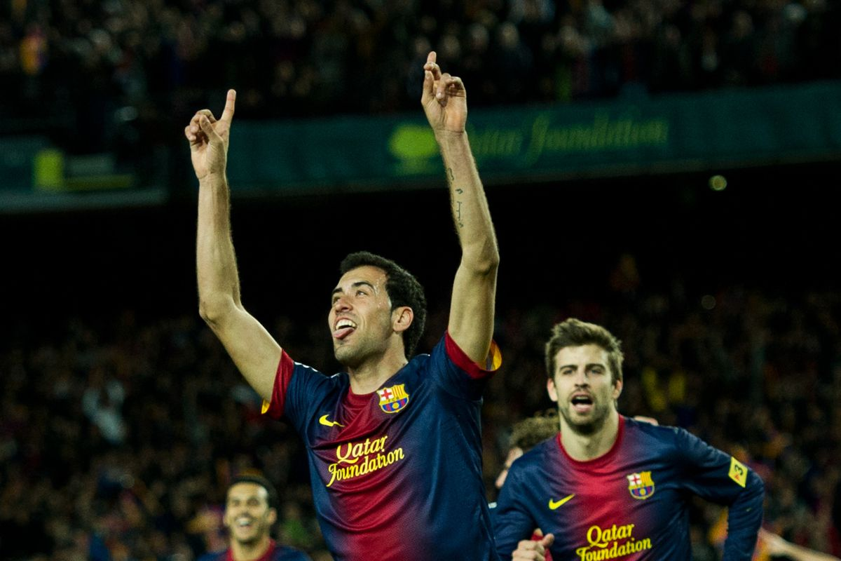 Sergio Busquets's only goal of the season (against Atletico de Madrid) was both memorable and important