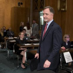 Robert Stephen Beecroft arrives for a Senate Foreign Relations committee hearing on his nomination to be ambassador to Iraq on Capitol Hill on Wednesday, Sept. 19, 2012 in Washington.