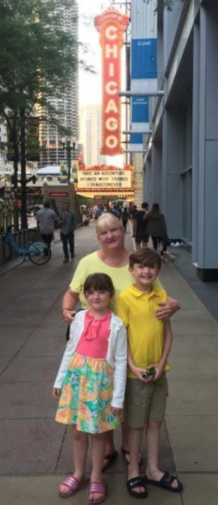 Mary Burke-Griffin and her children, Marty and Bridget, attended the SpongeBob Musical.   Family photo