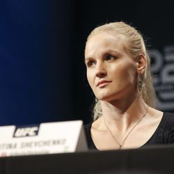 Valentina Shevchenko at UFC 231 presser.