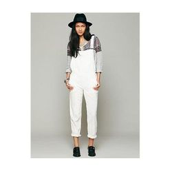 A winner-winner-chicken-dinner for creating an effortless summer ensemble, we would like to live in these airy white overalls. Take an edgy approach with black accents, keep them fresh in an all white palette, or add in pops of color; whatever your mood,