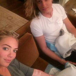 Kate Upton's getting ready process includes IVs with her hair stylist.