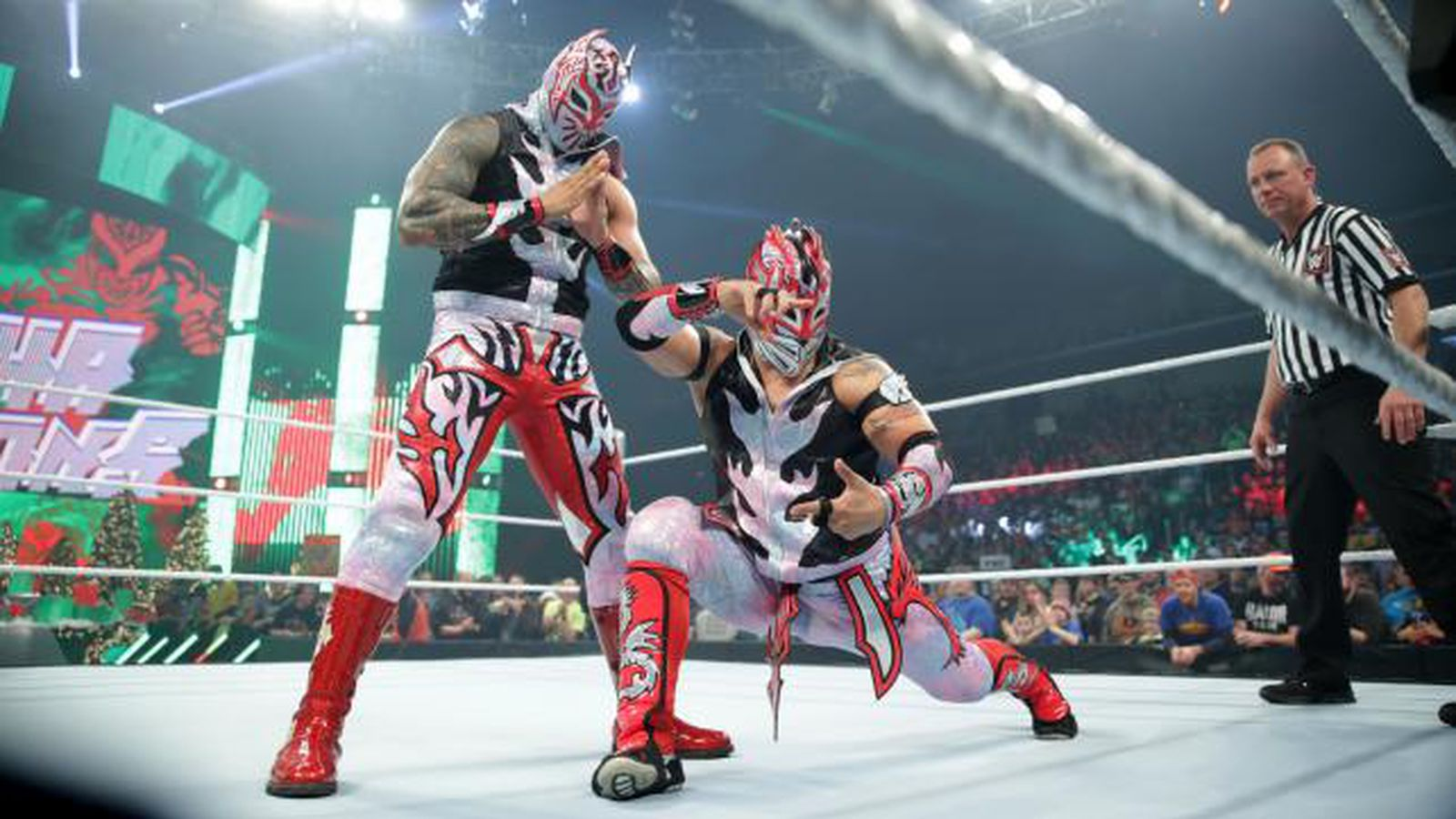 Gif sin cara botches suicide dive during smackdown title - Sin cara definition ...