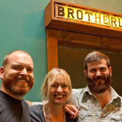 Derschang and her bar team: Bar Director Adam Fream (l), Bait Shop Bar Manager Will Ritthaler (r)