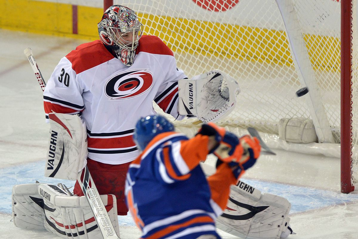 Taylor Hall shoots and scores to get the Oilers off to a fast start on Tuesday night