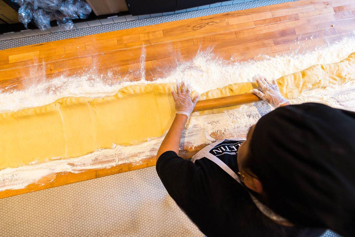 Pop-tart making in progress [Photo: R. Lopez]