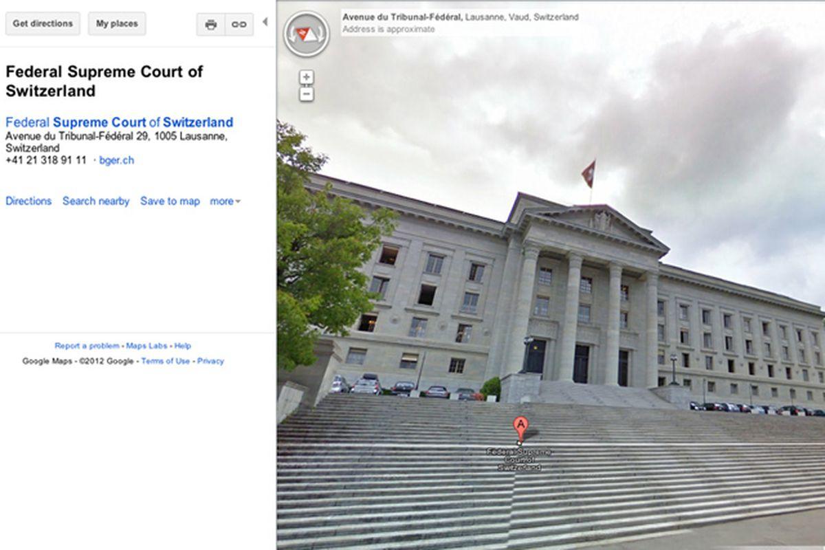 swiss supreme court streetview