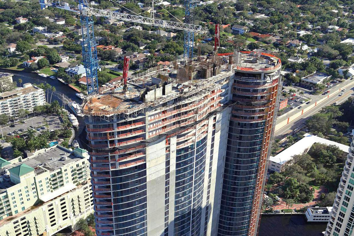View of a 45-story tower in Fort Lauderdale